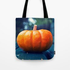 Park bench pumpkin Tote Bag