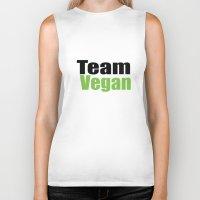 vegan Biker Tanks featuring Team Vegan  by Michael Moriarty Photography