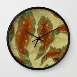 Antique Leaf print Wall Clock