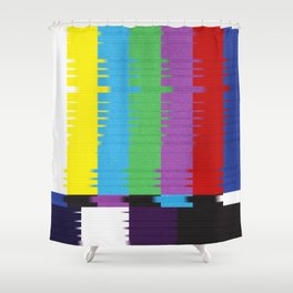 color tv bar#glitch#effect Shower Curtain