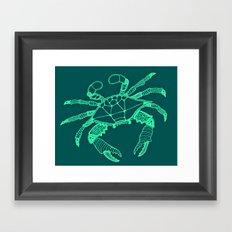 Green Crab Framed Art Print