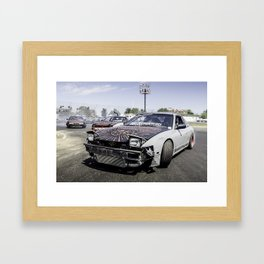 Run For Your Lives! Framed Art Print