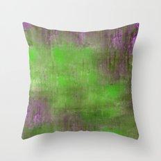 Green Color Fog Throw Pillow