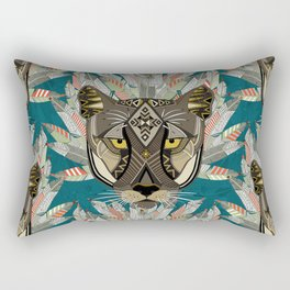 native mountain lion blue Rectangular Pillow