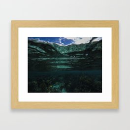 Dark Caribbean Layers Framed Art Print