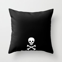 SKULL - BLACK & WHITE Throw Pillow