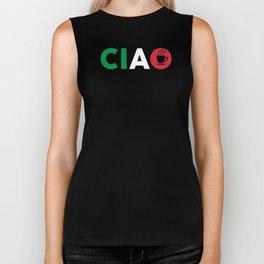 Ciao Italian Design I Love Italy / Bella Italia With Espresso Coffee For Italians And Italy Fans Biker Tank