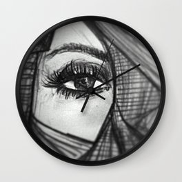 Eye (Be curious) Wall Clock