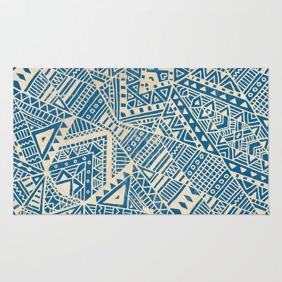 Tribal (blue)  Rug