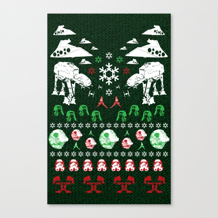 ugly christmas sweater win star wars empire style canvas print - Ugly Christmas Sweater Star Wars