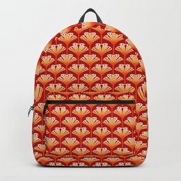 Art Deco Lily, Mandarin Orange and Gold Backpack