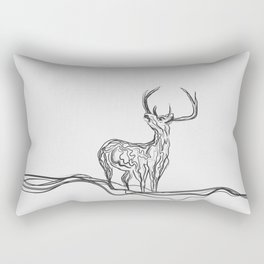 Mountain (Closer Than You Know) Lino Cut Rectangular Pillow