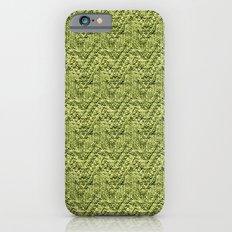 Green Zig-Zag Knit Slim Case iPhone 6s