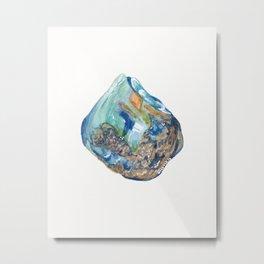 Opal October Birthstone Metal Print