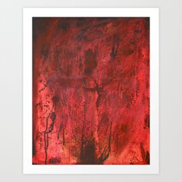 This is my blood of the covenant, which is poured out for many for the forgiveness of sins. Art Print