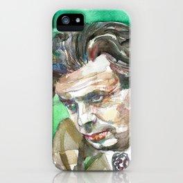 ALDOUS HUXLEY  watercolor portrait.2 iPhone Case