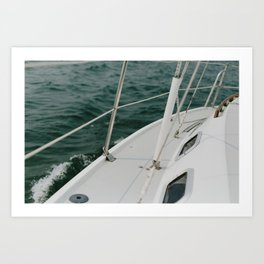 Sailing on Portage Lake Art Print
