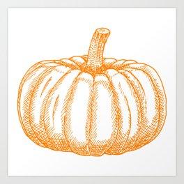 Halloween Harvest Pumpkin Art Print