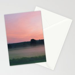 Pink countryside sunset Stationery Cards