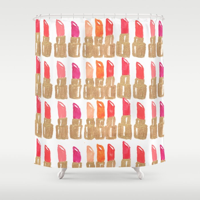 Lipstick Shower Curtain By Kendradandy