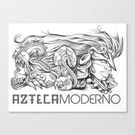 Azteca Moderno Digital Canvas Print