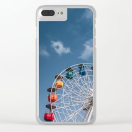 Colourful Ferry Wheel Clear iPhone Case