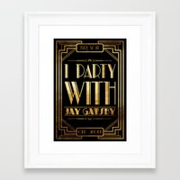 the great gatsby Framed Art Prints featuring Gatsby by Text Guy