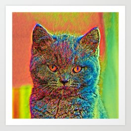 AnimalColor_Cat_ 027_by_JAMColors Art Print