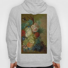"""Jan van Os """"Still life of peonies, a cock's comb and morning glories"""" Hoody"""