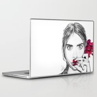 cara Laptop & iPad Skins featuring CARA  by Roxanne Jade Dentry