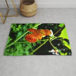 Orange Jewelweed Rug