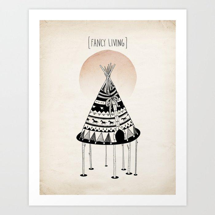 Fancy Living Art Print