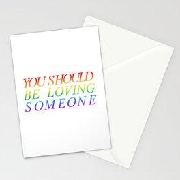 loving someone Stationery Cards