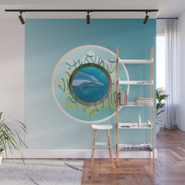Sweet Dolphin Blues Wall Mural