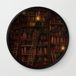 Night library Wall Clock
