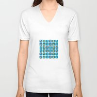 evil eye V-neck T-shirts featuring Evil Eye Squares by Katayoon Photography