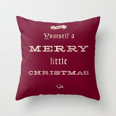 Merry Little Christmas Throw Pillow