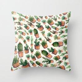 Cactus Wave Throw Pillow