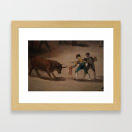 Bullfight in a Divided Ring Framed Art Print