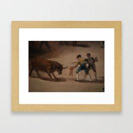 Bullfight in a Divided Ring Framed Art Print