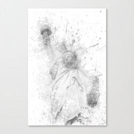 Modern Art STATUE OF LIBERTY | watercolor monochrome Canvas Print
