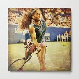 Serena Williams Tennis Metal Print