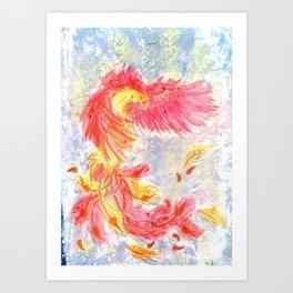Firey Phoenix Art Print