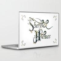 sherlock holmes Laptop & iPad Skins featuring Sherlock Holmes by Ketina