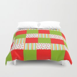 red and green  Duvet Cover