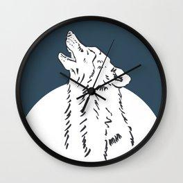 Pra Loup Howling Wolf Wall Clock