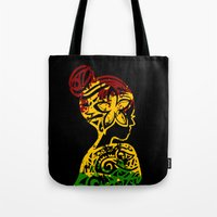 rasta Tote Bags featuring Rasta Lady by Lonica Photography & Poly Designs
