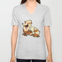 Pokémon - Number 58 & 59 Unisex V-Neck