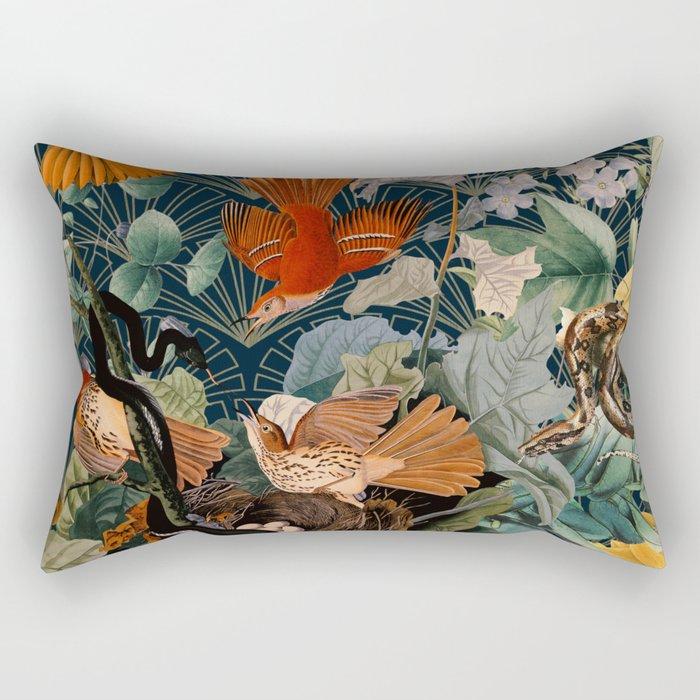 Birds and snakes Rectangular Pillow