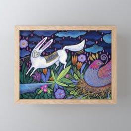 Frolic in the Forest Framed Mini Art Print